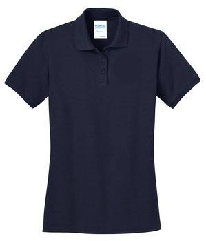 Ladies Navy Pique Knit Polo Shirt, Short Sleeve school uniform knit shirt, navy knit shirt, navy uniform shirt, navy polo shirt, navy polo, short sleeve knit, short sleeve knit polo, short sleeve white shirt, white uniform shirt, white school uniform polo, white school uniform shirt