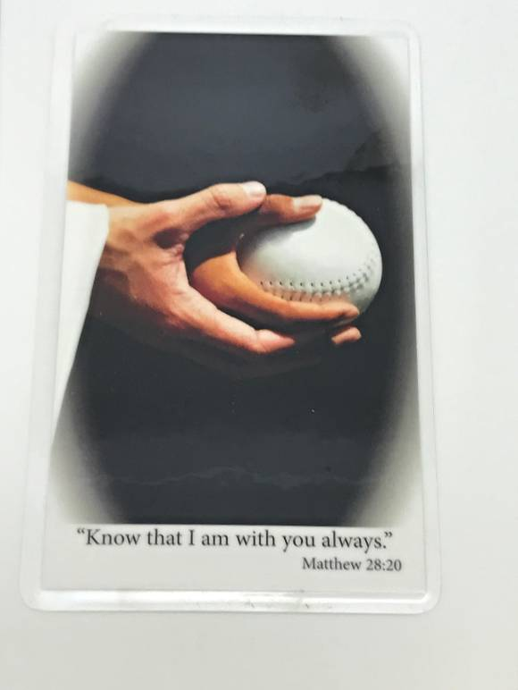 Laminated Prayer Card-Softball communion gift, reconciliation gift, confirmation gift,prayer car, youth gift,  sport prayer card, sports prayer, prayer for athletes, softball gift, softball prayer card