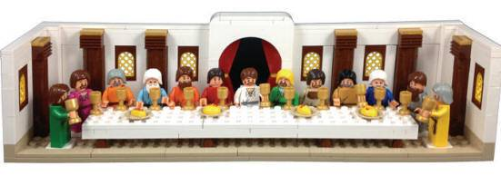 Last Supper Building Block Set last supper , block set, last supper block set, first communion gift, boy gift, building gift, lego compatable,