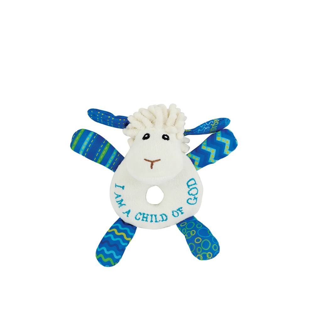 Levi the Little Lamb Rattle w201540, lamb plush, baby cozie, baby blanket, new baby gift, baptism gift, christening gift, lamb gift,lamb rattle,