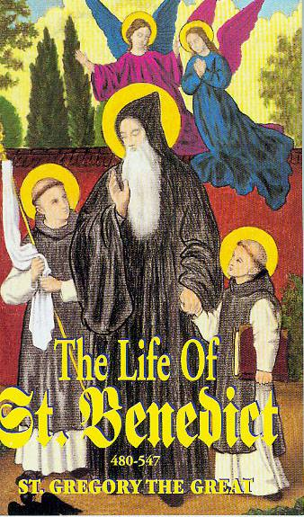Life of St. Benedict st. benedict, life of , biography, medjugorje, saint book, 1290,