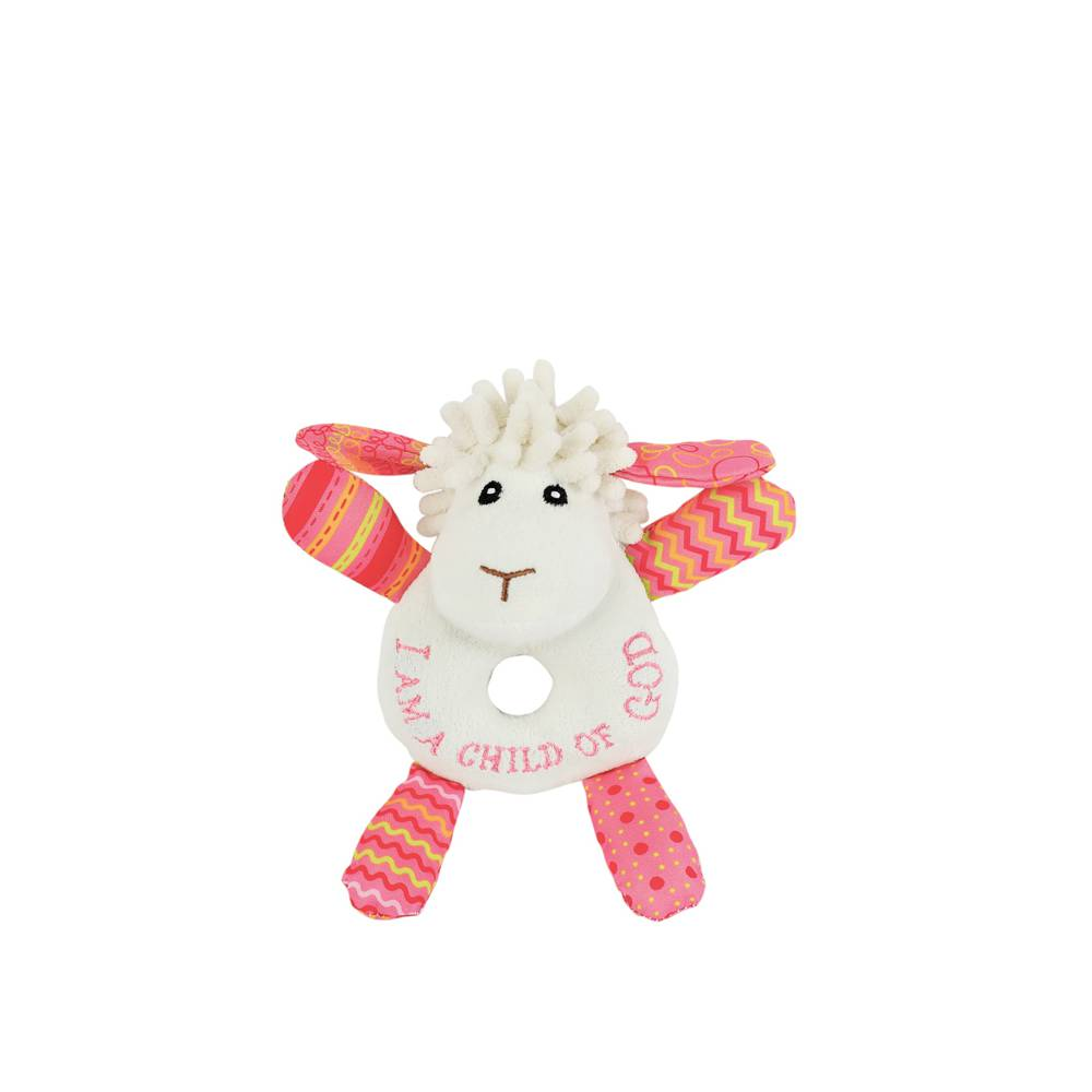 Lucy the Little Lamb Rattle w201541, lamb plush, baby cozie, baby blanket, new baby gift, baptism gift, christening gift, lamb gift,lamb rattle,