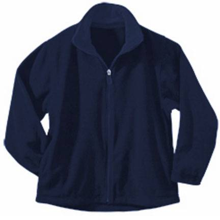 Navy Full Zip Fleece Jacket 1/2 zip, uniform fleece, fleece jacket, fleece pullover, quarter zip, 1/4 zip, uniform jacket
