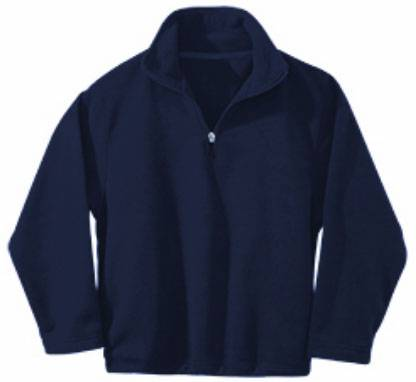 Navy Quarter Zip Fleece Pullover 1/2 zip, uniform fleece, fleece jacket, fleece pullover, quarter zip, 1/4 zip, uniform jacket