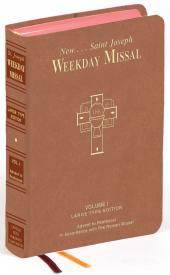 ST. JOSEPH WEEKDAY MISSAL LARGE TYPE VOLUME I ADVENT TO PENTECOST  missal, annual, church liturgy, 922/10