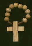 Olive Wood Finger Rosary rosary, finger rosary, olive wood bead, brown wood bead, 10501, italian beads