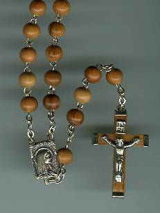 Olivewood Rosary with Olivewood Cross rosary, olivewood rosary, olivewood crucifix, italian, sacramental rosary, sacramental gift, 00701