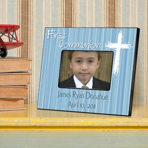 Personalized Blue First Communion Frame personalized frame, first communion frame, holy eucharist frame, girl gift, boy gift, picture frame,  frame,
