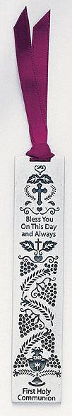 Pewter First Communion Bookmark first communion gift, first communion book mark, book mark, boy gift, girl gift, holy eurcharist gift, special occasion, sacramental gift,