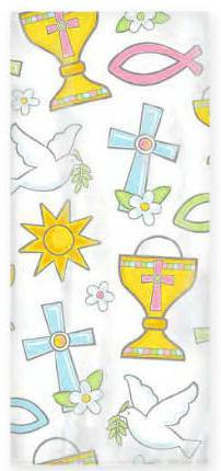 Religious Party Bags 379420,first communion partyware, blue partyware, boy first communion , boy first communion party, first communion party, paper products, sacramental favor bags, party bags
