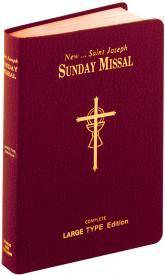 ST. JOSEPH SUNDAY MISSAL (LARGE TYPE) THE COMPLETE MASSES FOR SUNDAYS, HOLYDAYS, AND THE EAST ER TRIDUUM missal, annual, church liturgy, 822/10