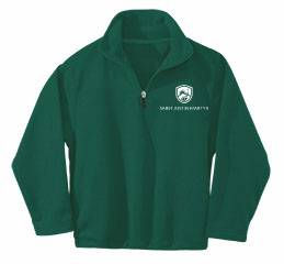 Custom Quarter-Zip Microfleece Pullover spirit wear, spiritwear, school spirit gear, school fleece, school pullover, school sweatshirt, school bookstore items, school accessories, custom school spiritwear, custom school gift items, custom school spirit wear