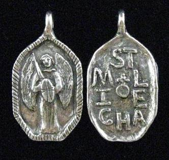 "1 1/4"" St. Michael MedalWHILE SUPPLIES LAST st michael medal, patron saint of policeman, patron saint soldiers, patron saint of paratroopers,pewter medal, key ring, necklace medal, charm medal, policaman gift, soldier gift,"