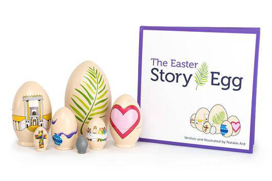 The Easter Story Egg and Book 978-0-692-77044-3, 9780692770443, easter book, easter egg, holy week book, kids book, childrens book, seasonal book, hoiday book, egg, stacking eggs,
