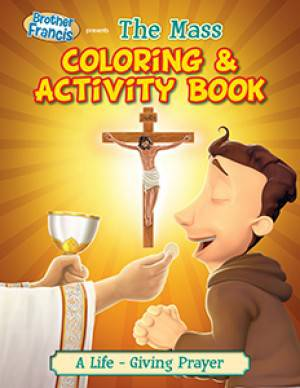 The Mass Coloring Book coloring book, childs gift, sacramental gift, first communion gift, holy eucharist gift, the mass, activity book ,BF06-CB