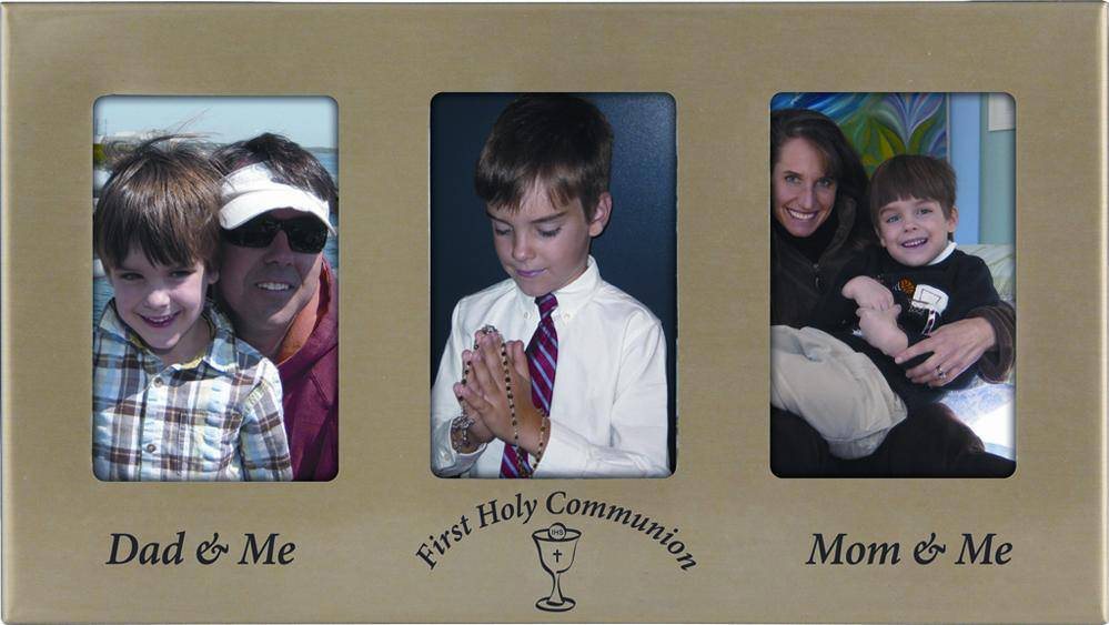 Triple Communion Frame*WHILE SUPPLIES LAST* first communion frame, first communion gift, first communion keepsake, dad and me frame, mom and me frame, first holy communion frame, first communion gift, frame gift