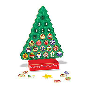 Wooden Magnetic Advent Calendar, Tree