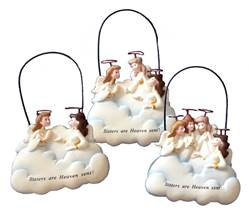 %27Sisters Are Heaven Sent%27 Ornaments sister gift, sister present, sister ornament