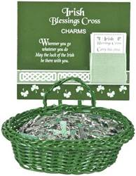Assorted Irish Cross Charms irish charms, pocket token, irish cross charms, irish blessing charms, group gifts, irish gifts, message charms, er20573