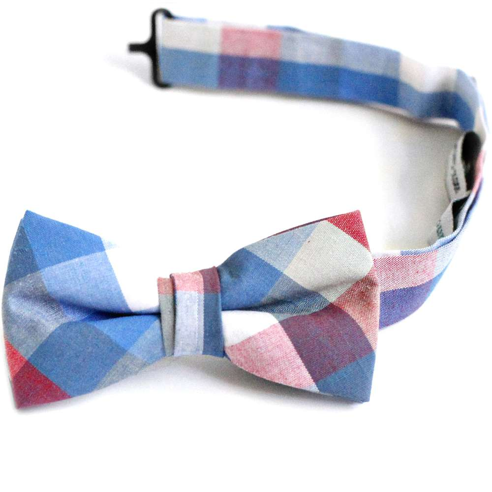 Madris Blue Plaid Bow Tie bow tie, bowtie, boys tie, first communion tie, boys first commuion apparel, first communion apparel, boys communion tie, boys tie, boy's tie, boys plaid tie, plaid tie, neckties