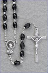 Black Plastic Rosary plastic rosary, black rosary, communion, gift, first communion rosary, holy eucharist rosary,40 005 01
