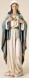 "37"" Immaculate Heart of Mary Statue  madonna statue, mary statue, marble statue, home decor, italian statue, church decor, 46599"