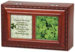 Irish Blessing Music Box cmas15e, first communion gift, first communion music box, first communion picture frame, personalized box, girls music box, boys music box, When Irish eyes are smiling music, irish gift box, irish gift,