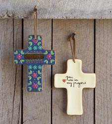 Jesus Loves You Cross**WHILE SUPPLIES LAST** wall cross, table cross, terra cotta cross, first communion gift, youth gift, decorative cross, home decor, girl gift, holy eucharist gift, boy gift