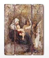 "26"" Madonna & Child with Angels Wall Plaque decorative panel, plaque, madonna and child decorative panel, song of angels, wall decor, home decor, church decor, 40506"