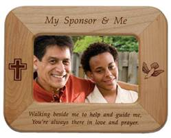 My Sponsor And Me Frame confirmation frame, wood frame, sponser frame, engraved frame, confirmation gift, holy spirit, boy gift, girl gift, unique gift,