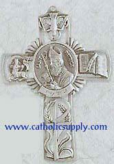 St. Patrick Pewter Wall Cross wall cross, patron saint cross, pewter cross, baptism cross, first communion cross, reconciliation cross, confirmation cross, christening cross, eucharist cross, sacramental gift, baptism gift, christening gift, special occasion gift