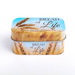 Bread of Life Prayer Tin TIN001, prayer tin, devotions, first communion gift, bread of life prayers,promise cards