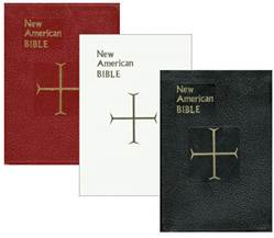 New American Bible- Deluxe Gift Edition (Full Size) 978-0-89-942965-6 , 978-0-89-942967-0, 978-0-89-942966-3, leather bible, catholic bible, catholic gift bible, catholic book bible, black bible, white leather bible, red bible, 611/10B, 611/10R, 611/10W,  86044E, 86044e, 86045e, 86045E, 86046e, 86046E