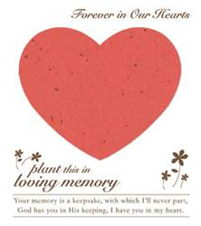 Memorial Plantable Heart on Forget Me Not Seeded Paper 15/Pkg funeral gifts, funeral distribution gifts, holy cards for funerals, prayer cards for funerals, gifts to give out at funerals, funeral mass gifts, remembrance gifts for loved ones, funeral gift, memorial favors, funeral favors