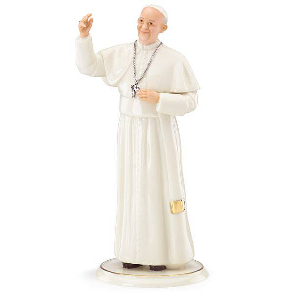 "7.25"" Lenox Pope Francis Statue Pope Francis USA 2015 Visit Commemorative Keepsake holy water container, papal visit 2015, pope francis papal visit usa, us papal visit, pope francis us papal visit, papal visit keepsakes, papal visit gifts, 2015 pope francis papal visit keepsakes, 2015 pope francis usa keepsakes"