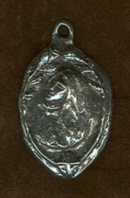 "1 1/4"" St.  Rose of Lima MedalWHILE SUPPLIES LAST patron saint medal, pewter medal, necklace, keyring, patron of  gardeners and birds, female saint, dog tag, 15301"