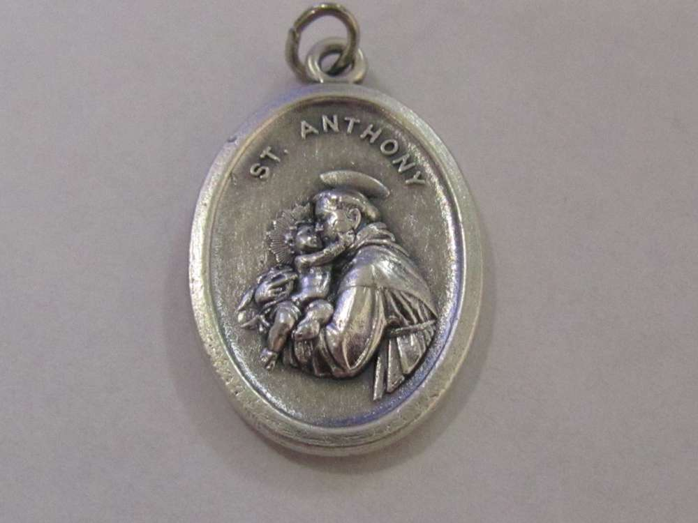 "1"" St. Anthony Oxidized Medal Patron saint, medals, oxidized medal,1"" medal, medal only, sacramental gift, special occasion gift, 14404"