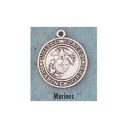 "1"" St. Christopher /Marine Medal St. Christopher / Marine , Soldiers,Military,army, sterling silver medals, gold filled medals, patron, saints, saint medal, saint pendant, saint necklace, 33322,353"