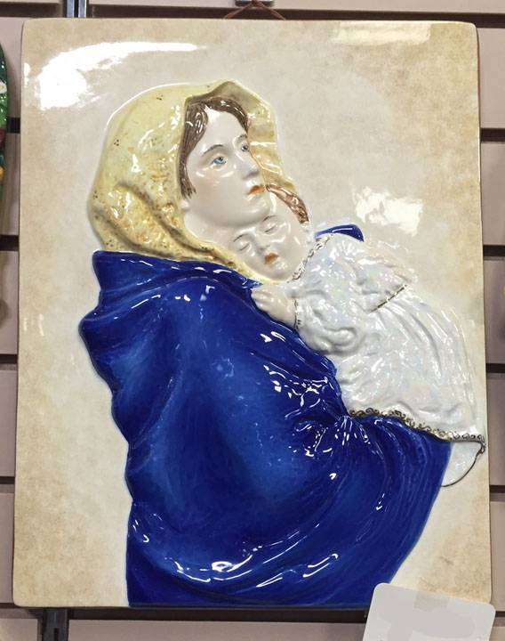 "10"" Madonna Of The Streets Robbia Wall Hanging *WHILE SUPPLIES LAST*"