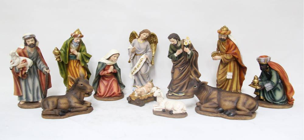 "11pc 10"" Heaven%27s Majesty Nativity Figure Set"