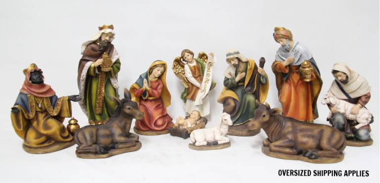"11pc 8"" Heaven%27s Majesty Nativity Figure Set"