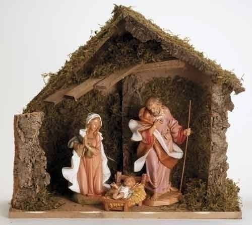 "12"" Fontanini Nativity holy family figure, nativity and stable,  12"" figure, fontanini, christmas gift, christmas set, collection figures , nativity figures, open stock figures, 54909"