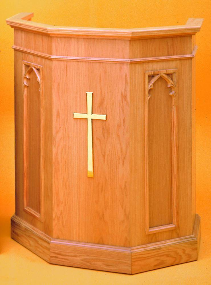 1250 Pulpit lectern, pulpit, church furniture, church goods, lecter table, wood lectern, wood pulpit, preacher stand, 1250