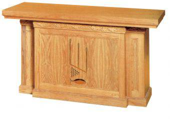 1460 Altar Table altar, furniture, communion table, church goods, church furniture, wood table, wood altar, wood finishes, woerner, 1460