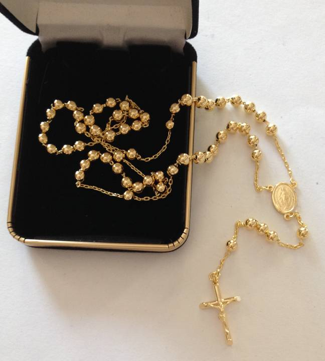 14kt Gold Rosary from Italy gold rosary, rosary, gift, christmas gift, 14kt rosary, italian rosary, italian made, 50lg01g
