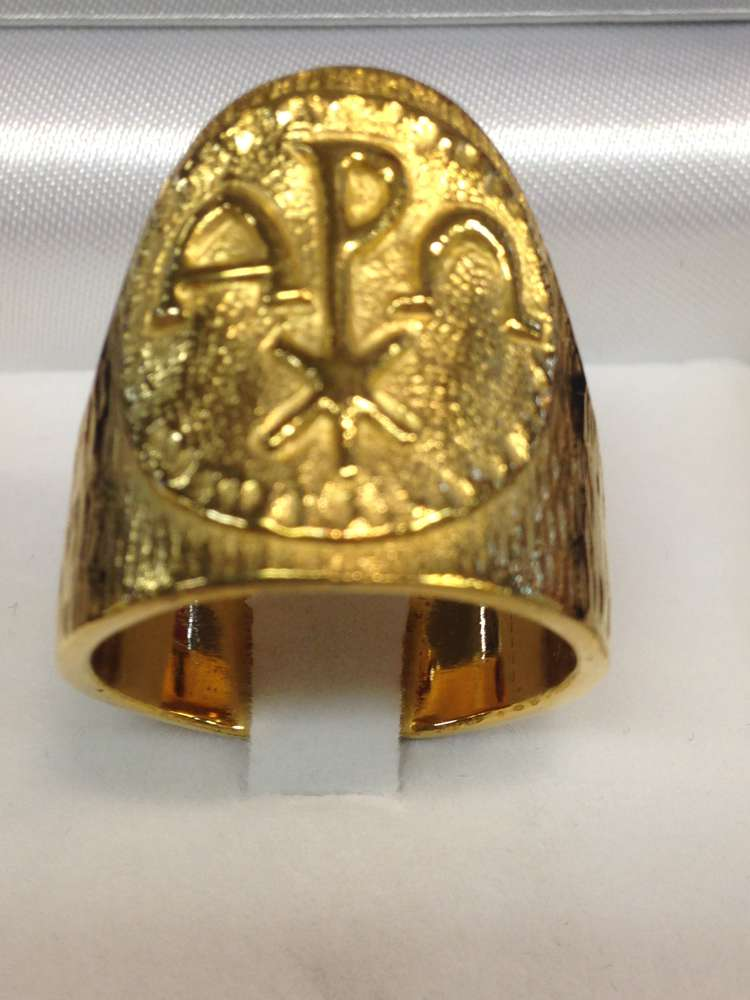 1656 Gold Plated Ring Sterling Silver Made In Italy