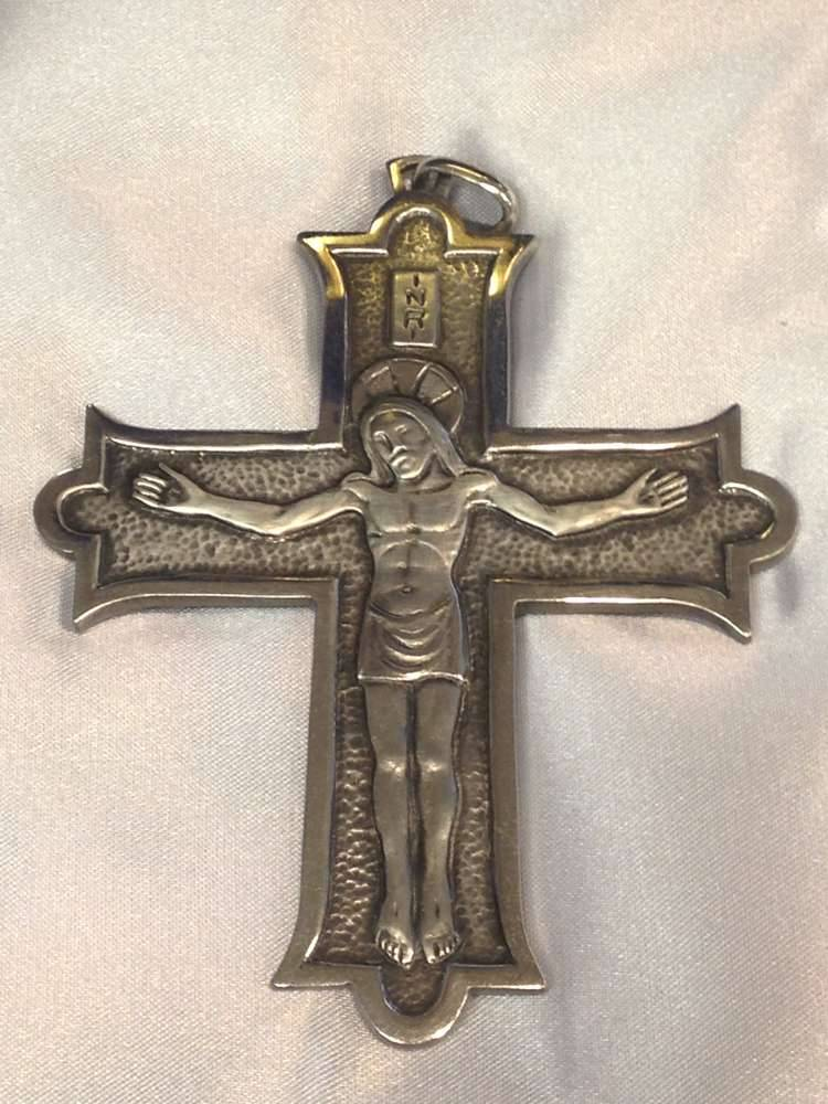1698B Pectoral Cross Sterling Silver Made In Italy