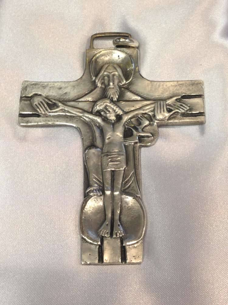 1698L Pectoral Cross Sterling Silver Made In Italy