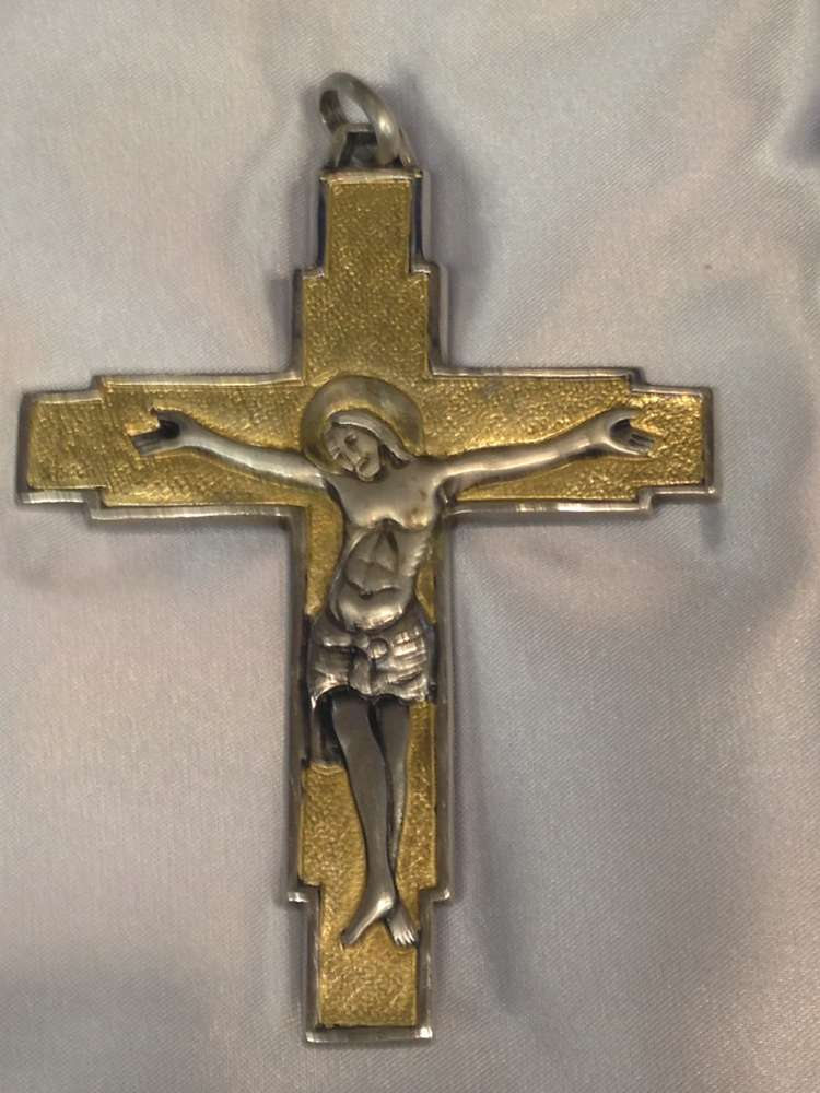 1700P Pectoral Cross Silver / Gold Plate Finish Made In Italy