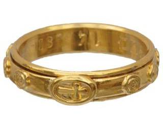 18kt Gold Plated Spinning Finger Rosary Ring
